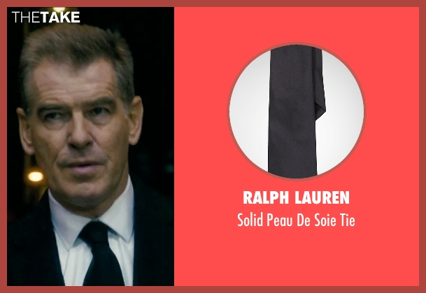 Ralph Lauren black tie from Survivor seen with Pierce Brosnan (The Watchmaker)
