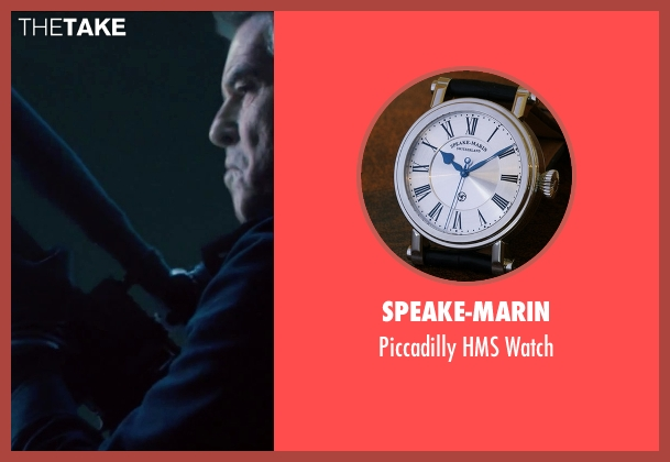 Speake-Marin black watch from Survivor seen with Pierce Brosnan (The Watchmaker)