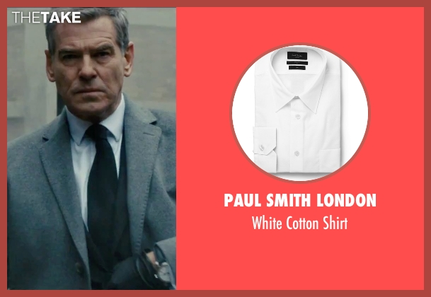 Paul Smith London white shirt from Survivor seen with Pierce Brosnan (The Watchmaker)