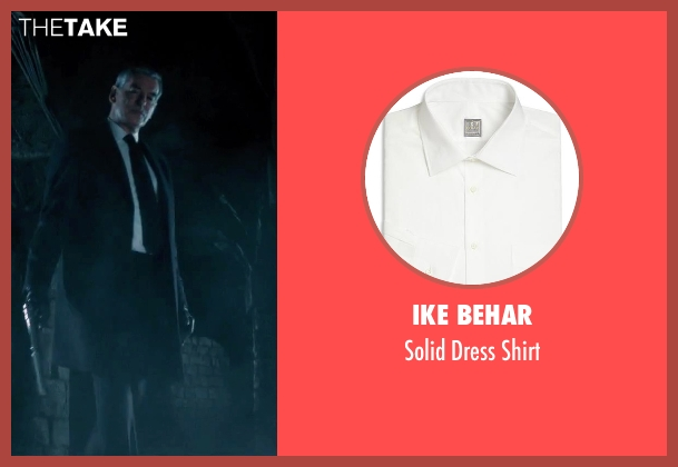 Ike Behar white shirt from Survivor seen with Pierce Brosnan (The Watchmaker)