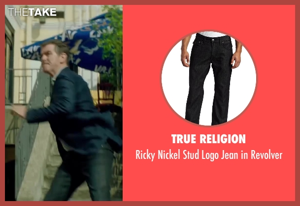 True Religion black revolver from The November Man seen with Pierce Brosnan (Peter Devereaux)