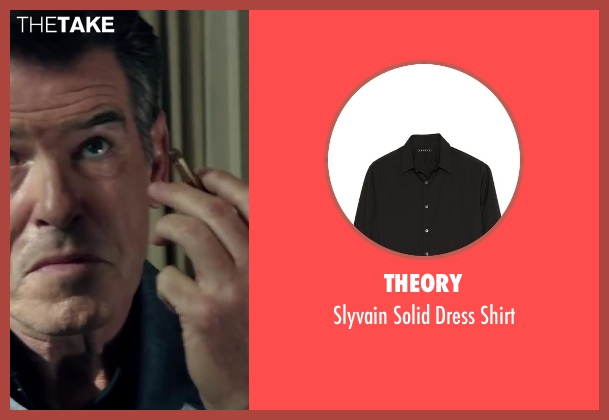 Theory black shirt from The November Man seen with Pierce Brosnan (Peter Devereaux)