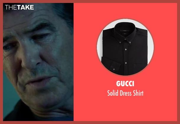 Gucci black shirt from The November Man seen with Pierce Brosnan (Peter Devereaux)