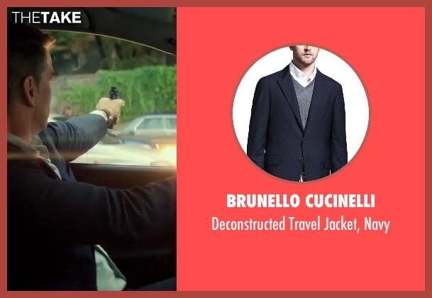 Brunello Cucinelli blue navy from The November Man seen with Pierce Brosnan (Peter Devereaux)