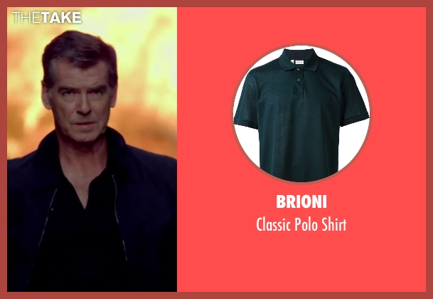 Brioni blue shirt from The November Man seen with Pierce Brosnan (Peter Devereaux)