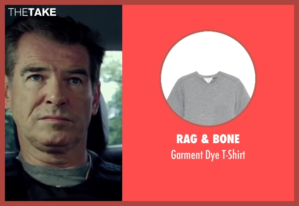 Rag & Bone gray t-shirt from The November Man seen with Pierce Brosnan (Peter Devereaux)