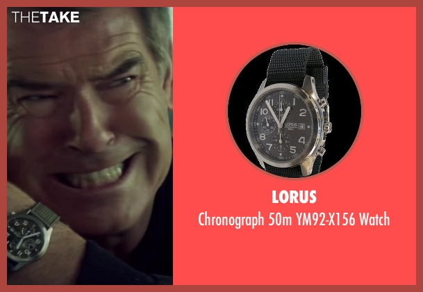 Lorus watch from The November Man seen with Pierce Brosnan (Peter Devereaux)