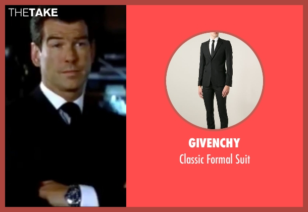 Givenchy black suit from The World is Not Enough seen with Pierce Brosnan (James Bond)