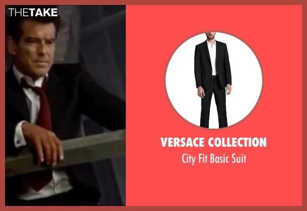 Versace Collection black suit from The World is Not Enough seen with Pierce Brosnan (James Bond)