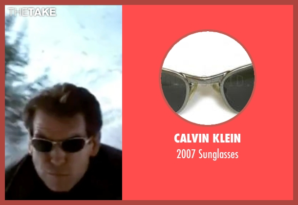 Calvin Klein black sunglasses from The World is Not Enough seen with Pierce Brosnan (James Bond)