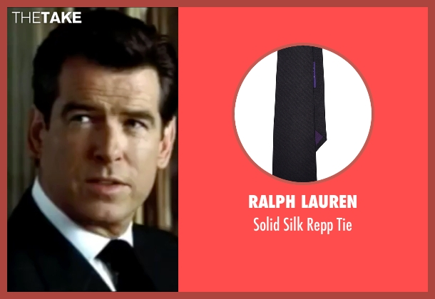 Ralph Lauren black tie from The World is Not Enough seen with Pierce Brosnan (James Bond)