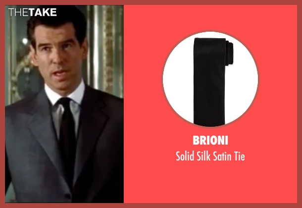 Brioni black tie from The World is Not Enough seen with Pierce Brosnan (James Bond)