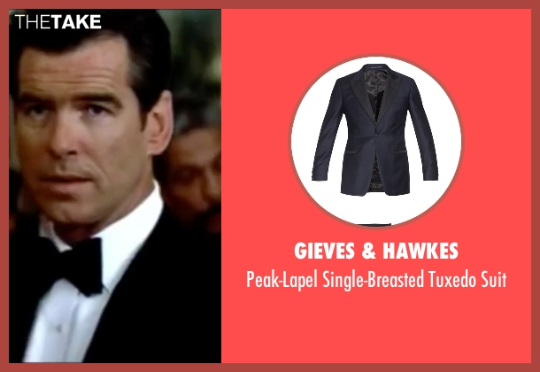 Gieves & Hawkes blue suit from The World is Not Enough seen with Pierce Brosnan (James Bond)