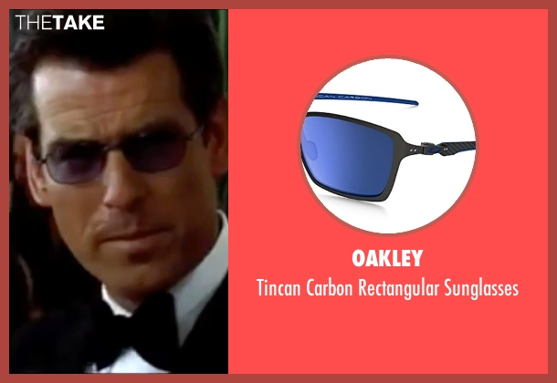 Oakley blue sunglasses from The World is Not Enough seen with Pierce Brosnan (James Bond)