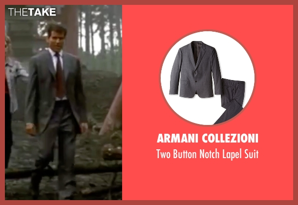 Armani Collezioni gray suit from The World is Not Enough seen with Pierce Brosnan (James Bond)