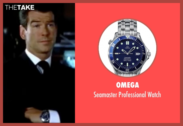 Omega silver watch from The World is Not Enough seen with Pierce Brosnan (James Bond)