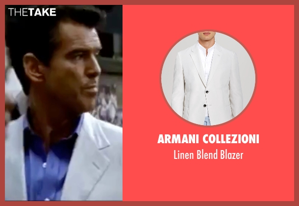 Armani Collezioni white blazer from The World is Not Enough seen with Pierce Brosnan (James Bond)