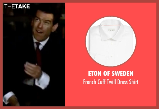 Eton of Sweden white shirt from The World is Not Enough seen with Pierce Brosnan (James Bond)