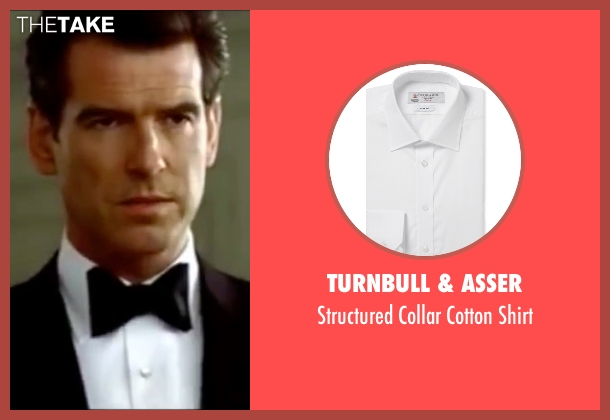 Turnbull & Asser white shirt from The World is Not Enough seen with Pierce Brosnan (James Bond)