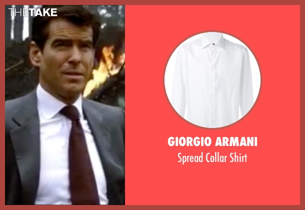 Giorgio Armani white shirt from The World is Not Enough seen with Pierce Brosnan (James Bond)