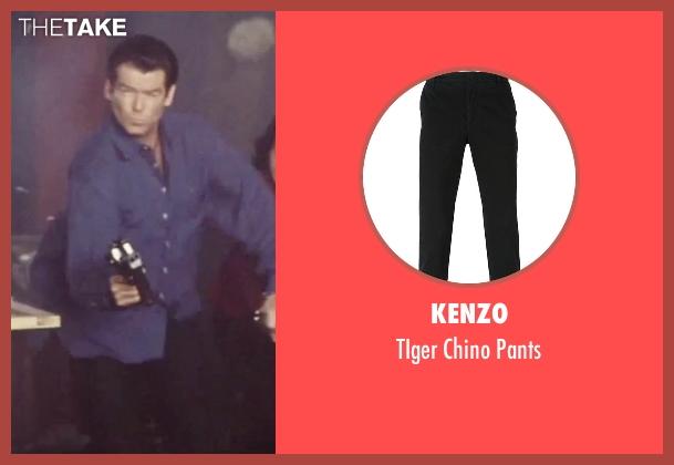 Kenzo black pants from Tomorrow Never Dies seen with Pierce Brosnan (James Bond)