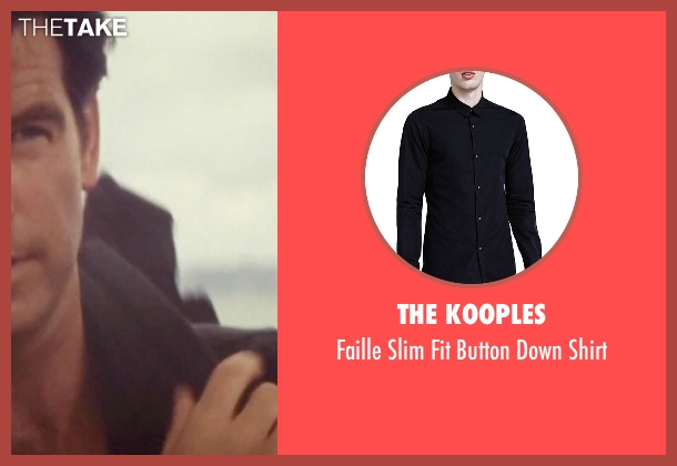 The Kooples black shirt from Tomorrow Never Dies seen with Pierce Brosnan (James Bond)