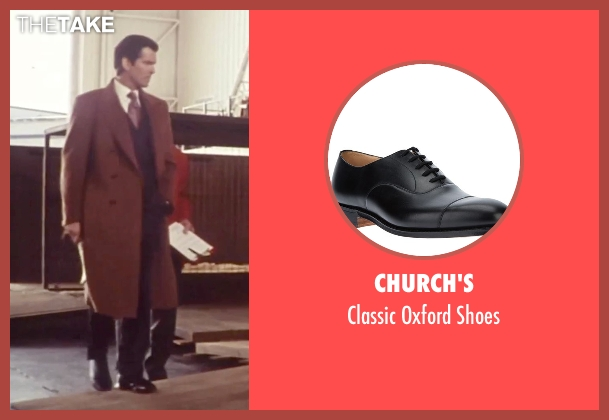 Church's black shoes from Tomorrow Never Dies seen with Pierce Brosnan (James Bond)