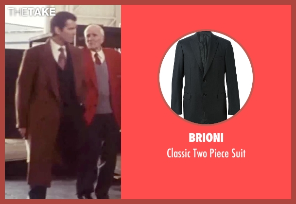 Brioni black suit from Tomorrow Never Dies seen with Pierce Brosnan (James Bond)