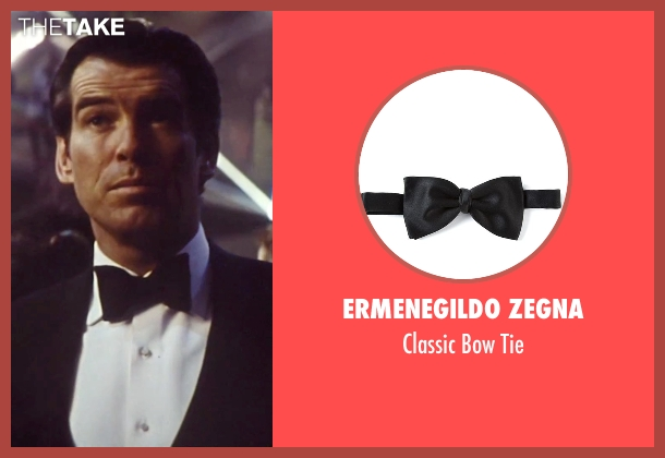 Ermenegildo Zegna black tie from Tomorrow Never Dies seen with Pierce Brosnan (James Bond)