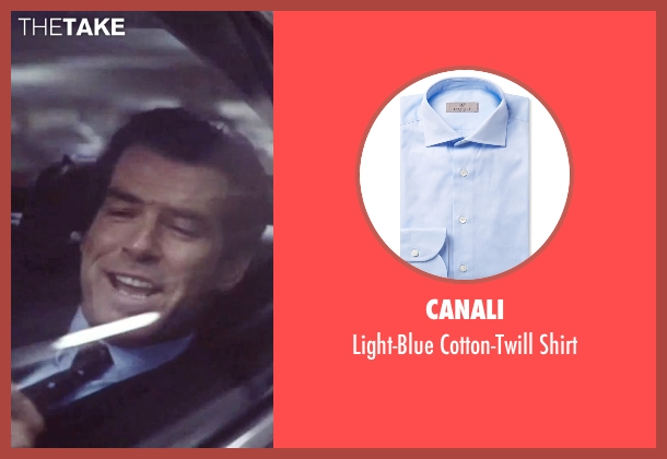 Canali blue shirt from Tomorrow Never Dies seen with Pierce Brosnan (James Bond)