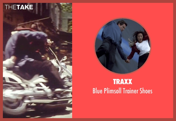 Traxx blue shoes from Tomorrow Never Dies seen with Pierce Brosnan (James Bond)