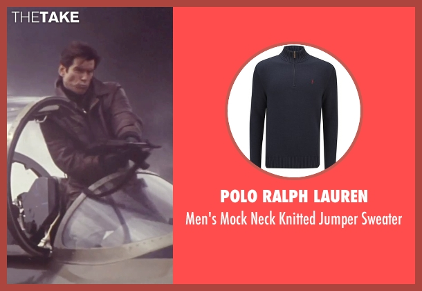 Polo Ralph Lauren blue sweater from Tomorrow Never Dies seen with Pierce Brosnan (James Bond)