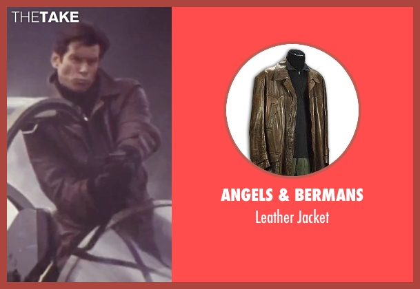 Angels & Bermans brown jacket from Tomorrow Never Dies seen with Pierce Brosnan (James Bond)