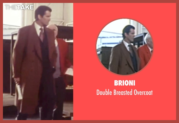 Brioni brown overcoat from Tomorrow Never Dies seen with Pierce Brosnan (James Bond)