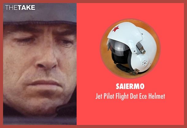 Saiermo helmet from Tomorrow Never Dies seen with Pierce Brosnan (James Bond)