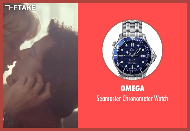 Omega silver watch from Tomorrow Never Dies seen with Pierce Brosnan (James Bond)