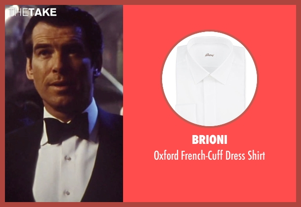 Brioni white shirt from Tomorrow Never Dies seen with Pierce Brosnan (James Bond)