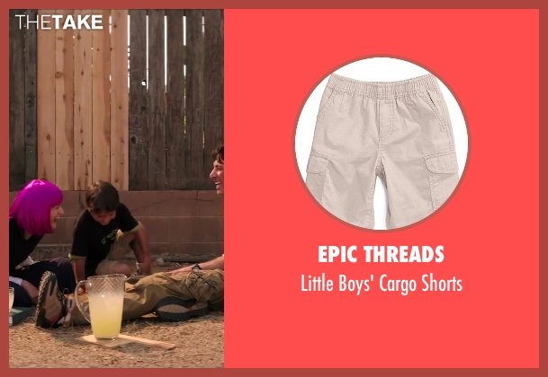 Epic Threads beige shorts from Wish I Was Here seen with Pierce Gagnon (Tucker Bloom)