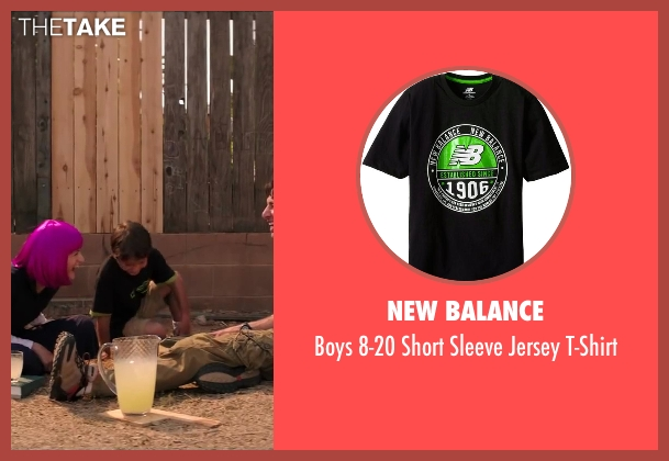 New Balance black t-shirt from Wish I Was Here seen with Pierce Gagnon (Tucker Bloom)