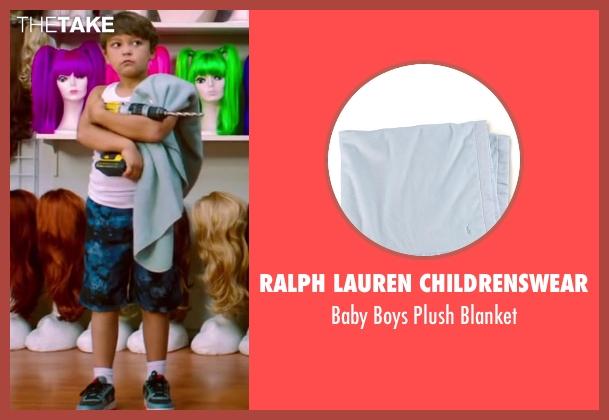 Ralph Lauren Childrenswear blue blanket from Wish I Was Here seen with Pierce Gagnon (Tucker)