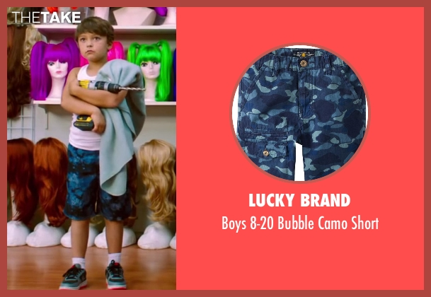 Lucky Brand blue short from Wish I Was Here seen with Pierce Gagnon (Tucker)