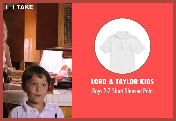 Lord & Taylor Kids white polo from Wish I Was Here seen with Pierce Gagnon (Tucker Bloom)