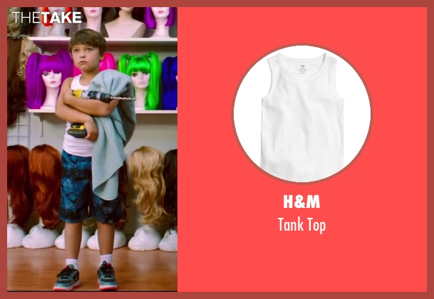 H&M white top from Wish I Was Here seen with Pierce Gagnon (Tucker)