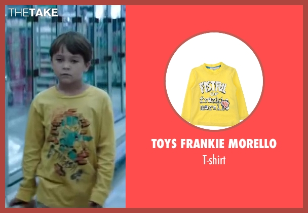 Toys Frankie Morello yellow t-shirt from Wish I Was Here seen with Pierce Gagnon (Tucker)