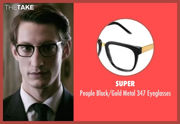 Super black eyeglasses from Yves Saint Laurent seen with Pierre Niney (Yves Saint Laurent)