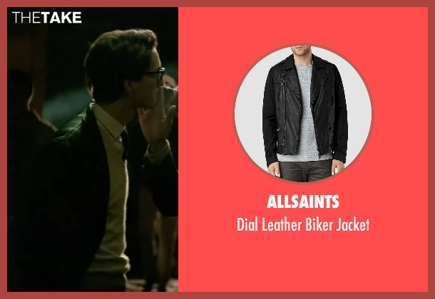 Allsaints black jacket from Yves Saint Laurent seen with Pierre Niney (Yves Saint Laurent)
