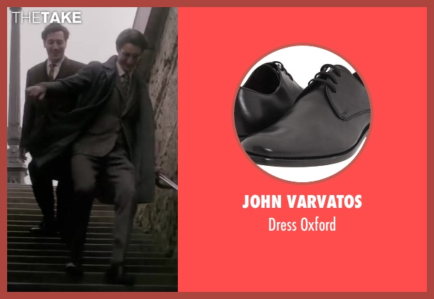 John Varvatos black oxford from Yves Saint Laurent seen with Pierre Niney (Yves Saint Laurent)