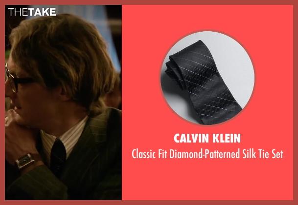 Calvin Klein black set from Yves Saint Laurent seen with Pierre Niney (Yves Saint Laurent)