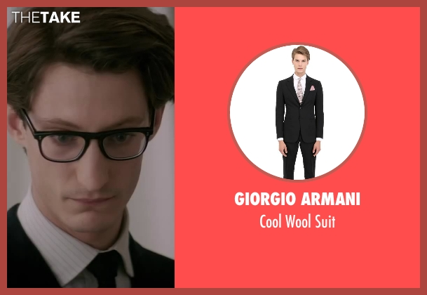 Giorgio Armani black suit from Yves Saint Laurent seen with Pierre Niney (Yves Saint Laurent)