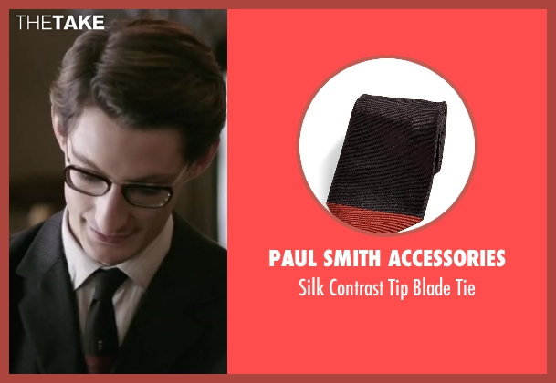 Paul Smith Accessories black tie from Yves Saint Laurent seen with Pierre Niney (Yves Saint Laurent)